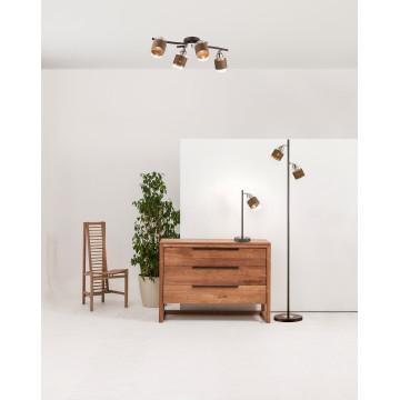 Потолочная люстра с регулировкой направления света Lumion Filla 3030/4CA, 4xE27x60W, венге, хром, коричневый, прозрачный, металл, стекло, текстиль - миниатюра 5