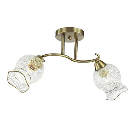 Потолочный светильник Lumion Rozetta 3109/2C, 2xE27x60W, бронза, прозрачный, металл