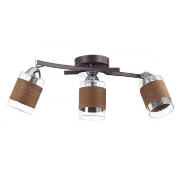 Потолочный светильник с регулировкой направления света Lumion Filla 3030/3CA, 3xE27x60W, венге, хром, коричневый, металл, стекло, текстиль - миниатюра 2