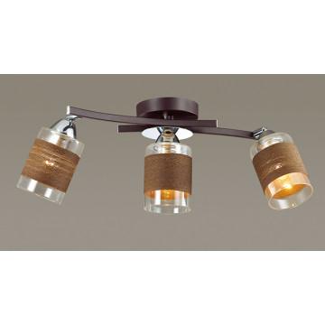 Потолочный светильник с регулировкой направления света Lumion Filla 3030/3CA, 3xE27x60W, венге, хром, коричневый, металл, стекло, текстиль - миниатюра 3