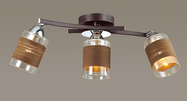 Потолочный светильник с регулировкой направления света Lumion Filla 3030/3CA, 3xE27x60W, венге, хром, коричневый, металл, стекло, текстиль - фото 3
