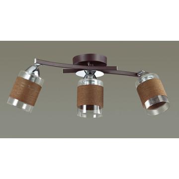Потолочный светильник с регулировкой направления света Lumion Filla 3030/3CA, 3xE27x60W, венге, хром, коричневый, металл, стекло, текстиль - миниатюра 4