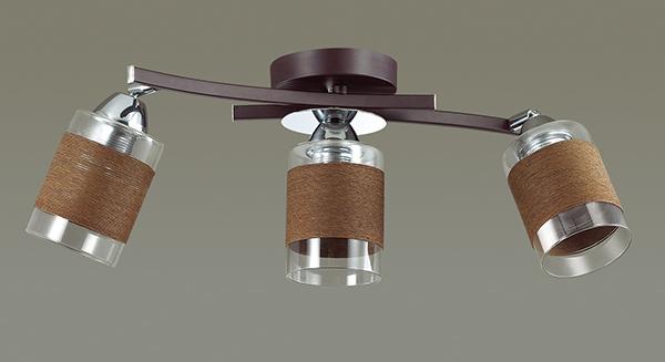 Потолочный светильник с регулировкой направления света Lumion Filla 3030/3CA, 3xE27x60W, венге, хром, коричневый, металл, стекло, текстиль - фото 4