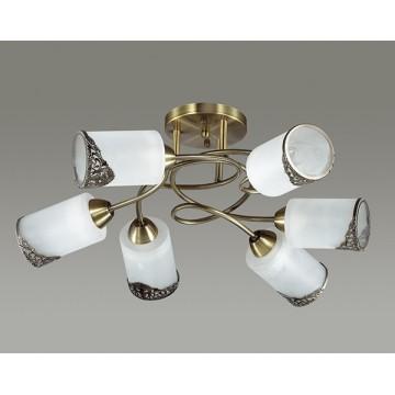 Потолочная люстра Lumion Citadella 3012/6C, 6xE27x40W, бронза, белый, металл, стекло - миниатюра 4