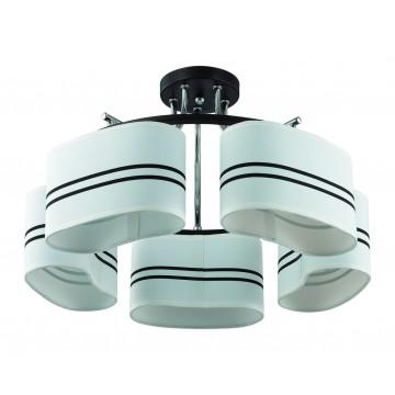 Потолочная люстра Lumion Ivara 3056/5C, 5xE27x40W, венге, хром, белый, черный, металл, текстиль - миниатюра 2