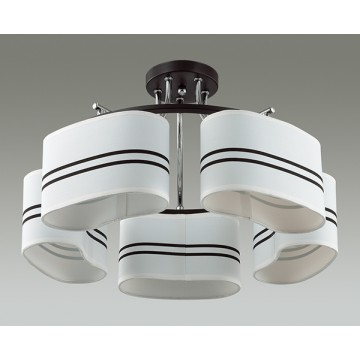 Потолочная люстра Lumion Ivara 3056/5C, 5xE27x40W, венге, хром, белый, черный, металл, текстиль - миниатюра 4