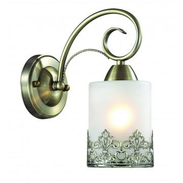 Бра Lumion Citadella 3070/1W, 1xE27x40W, бронза, белый, металл, стекло