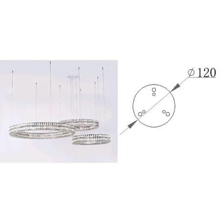 База для подвесного монтажа светильника Newport Держатель троса для 10120 chrome (М0062680)