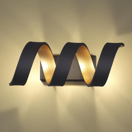 Настенный светодиодный светильник Odeon Light L-Vision Spira 3832/9WL, LED 9W 4000K 810lm, черный, металл