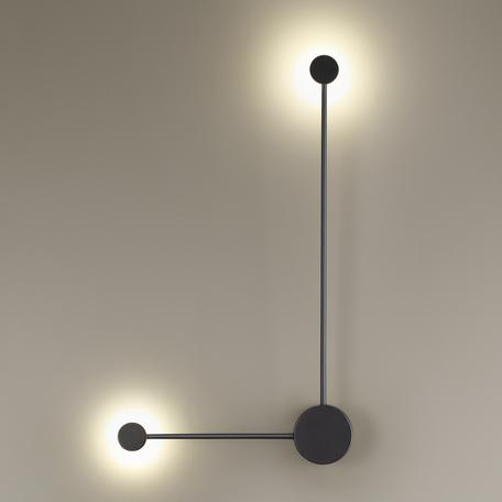 Настенный светодиодный светильник Odeon Light Hightech Satellite 3900/10WB, LED 10W 4000K 840lm, черный, металл