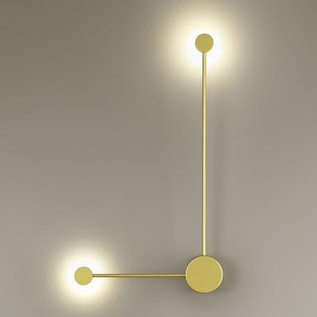 Настенный светодиодный светильник Odeon Light Hightech Satellite 3900/10WG, LED 10W 4000K 840lm, матовое золото, металл