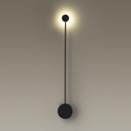 Настенный светодиодный светильник Odeon Light Hightech Satellite 3902/5WB, LED 5W 4000K 420lm, черный, металл