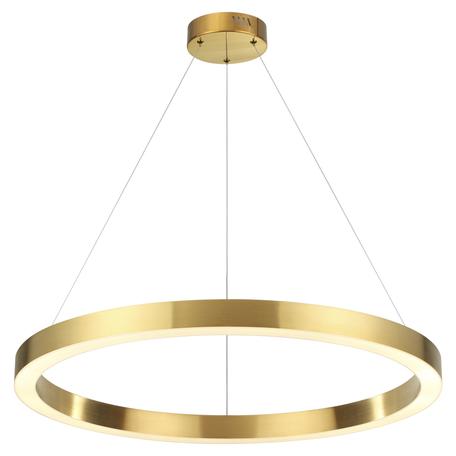 Подвесной светодиодный светильник Odeon Light L-Vision Brizzi 3885/45LG, LED 45W 4000K 3600lm, золото, металл
