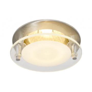 Встраиваемый светильник Arte Lamp Topic A2750PL-3SS, 1xGU10x50W, серебро, матовый, прозрачный, металл, стекло