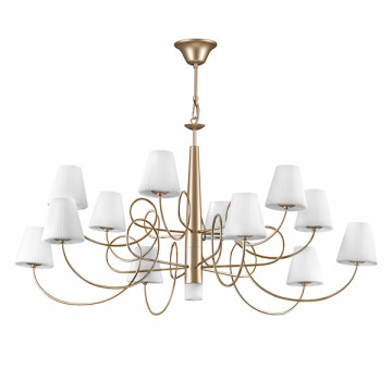 Подвесная люстра Lightstar Vortico 814333, 13xG9x40W, янтарь, белый, металл, стекло