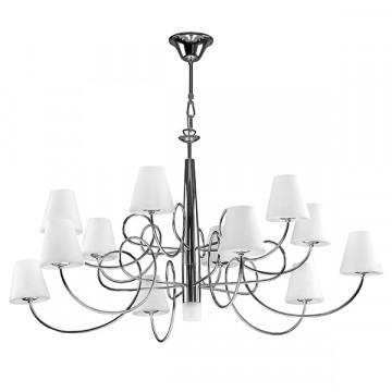Подвесная люстра Lightstar Vortico 814334, 13xG9x40W, хром, белый, металл, стекло