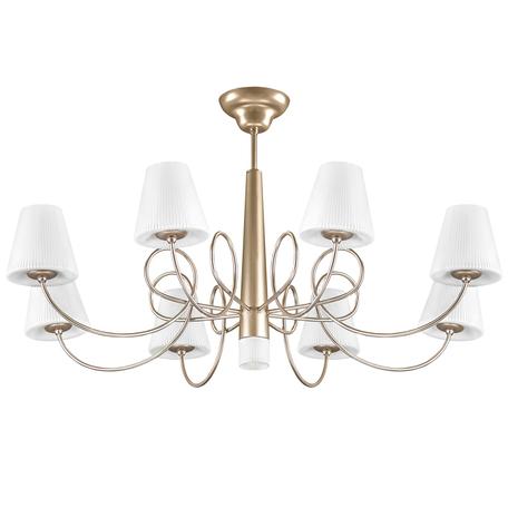 Потолочная люстра Lightstar Vortico 814093, 9xG9x40W, янтарь, белый, металл, стекло
