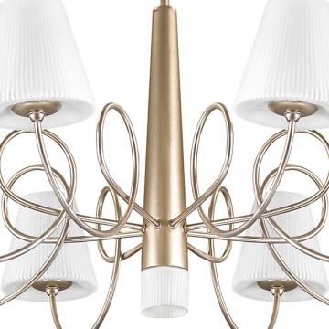 Потолочная люстра Lightstar Vortico 814093, 9xG9x40W, янтарь, белый, металл, стекло - миниатюра 5