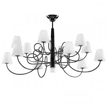 Потолочная люстра Lightstar Vortico 814137, 13xG9x40W, черный, белый, металл, стекло