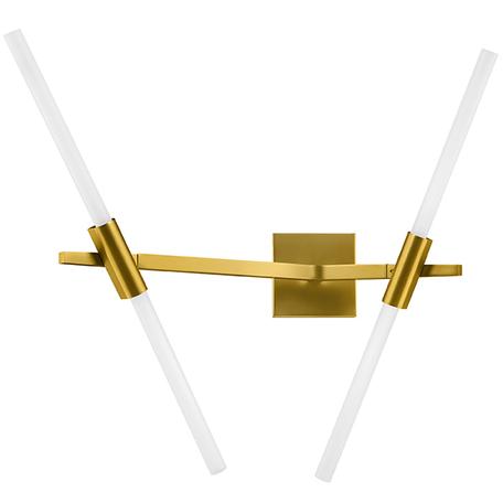 Бра Lightstar Struttura 742623, 4xG9x40W, матовое золото, белый, металл, стекло