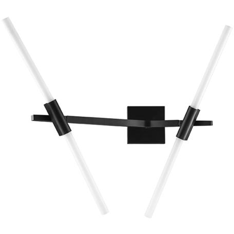 Бра Lightstar Struttura 742627, 4xG9x40W, черный, белый, металл, стекло