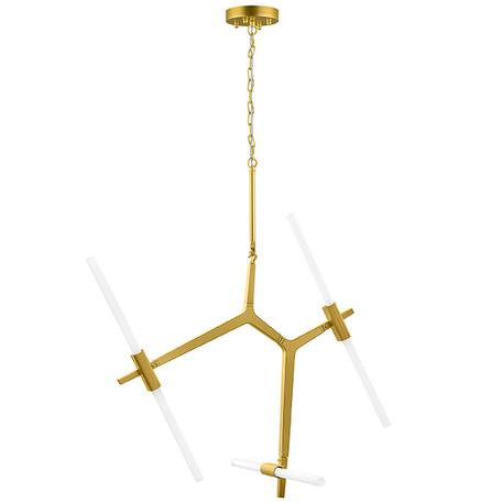 Подвесная люстра Lightstar Struttura 742063, 6xG9x40W, матовое золото, белый, металл, стекло