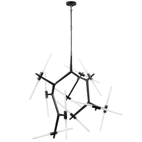 Подвесная люстра Lightstar Struttura 742207, 20xG9x40W, черный, белый, металл, стекло