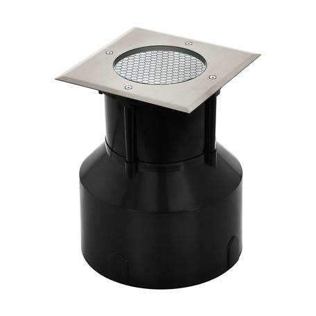 Встраиваемый в уличное покрытие светодиодный светильник Eglo Riga 3 Pro 62707, IP65, LED 18,5W 3000K, сталь, металл со стеклом