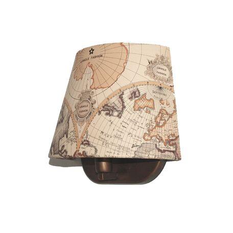 Бра Favourite Mappa 1122-1W, 1xE14x40W, коричневый, бежевый, металл, текстиль