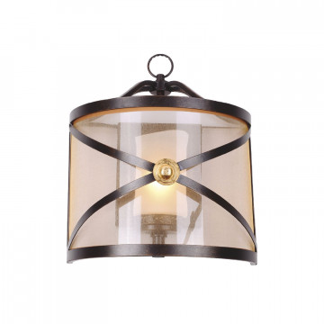Бра Favourite Capella 1145-1W, 1xE27x40W, коричневый, коньячный, металл, текстиль
