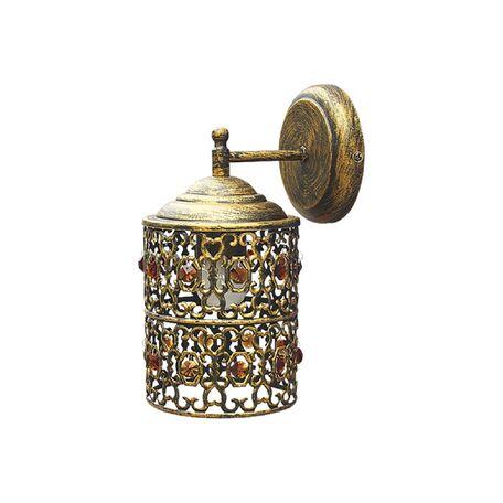 Бра Favourite Marocco 2312-1W, 1xE27x60W, черненое золото, металл, металл со стеклом
