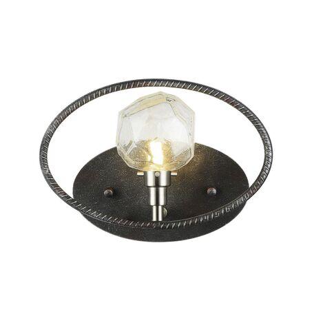 Настенный светильник Favourite Lick 1903-1W, 1xG9x5W, черный с серебряной патиной, черный, металл, стекло