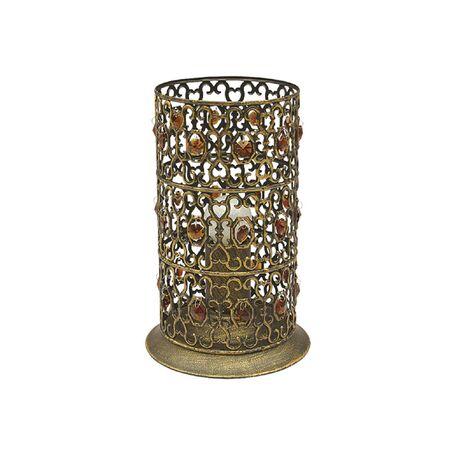 Настольная лампа Favourite Marocco 2312-1T, 1xE27x60W, черненое золото, металл, металл со стеклом