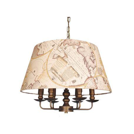 Подвесная люстра Favourite Mappa 1122-6P, 6xE14x40W, коричневый, бежевый, металл, текстиль