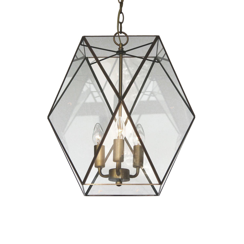 Подвесная люстра Favourite Shatir 1628-3P, 3xE14x40W, бронза, прозрачный, металл, стекло - фото 1