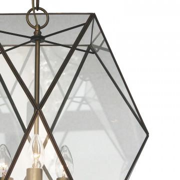 Подвесная люстра Favourite Shatir 1628-3P, 3xE14x40W, бронза, прозрачный, металл, стекло - миниатюра 3