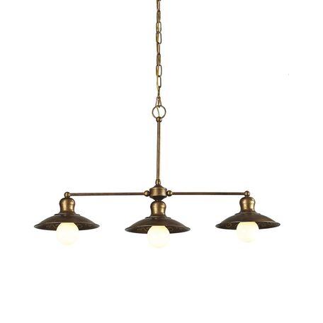 Подвесной светильник Favourite Magrib 1214-3P1, 3xE27x60W, коричневый, металл