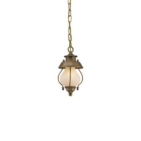 Подвесной светильник Favourite Lucciola 1460-1P, 1xE14x40W, коричневый с золотой патиной, металл, металл со стеклом