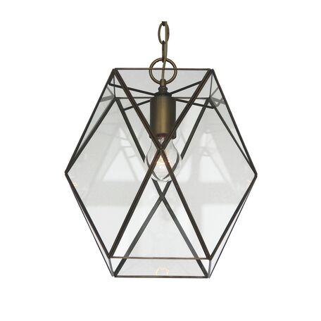 Подвесной светильник Favourite Shatir 1628-1P, 1xE27x60W, бронза, прозрачный, металл, стекло