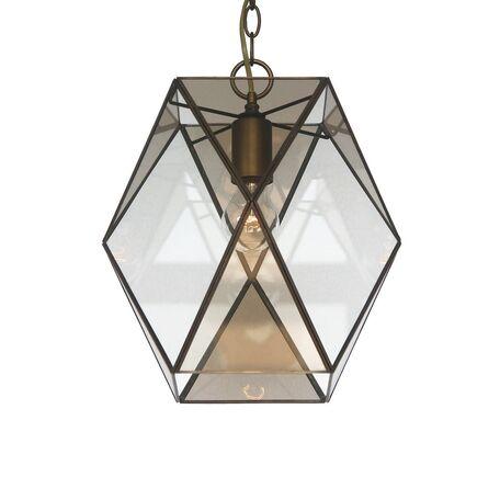 Подвесной светильник Favourite Shatir 1629-1P, 1xE27x60W, бронза, коньячный, прозрачный, металл, стекло