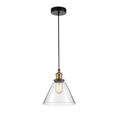 Подвесной светильник Favourite Cascabel 1875-1P, 1xE27x60W, черный, прозрачный, металл, стекло