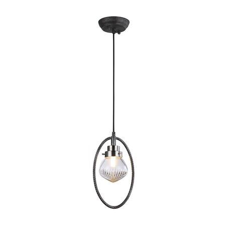 Подвесной светильник Favourite Lick 1902-1P, 1xG9x5W, черный с серебряной патиной, прозрачный, черный, металл, стекло