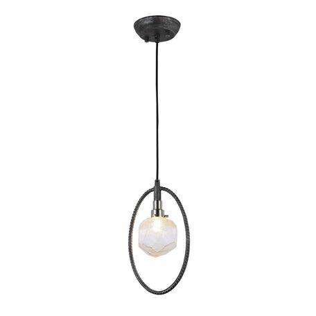 Подвесной светильник Favourite Lick 1903-1P, 1xG9x5W, черный с серебряной патиной, прозрачный, черный, металл, стекло