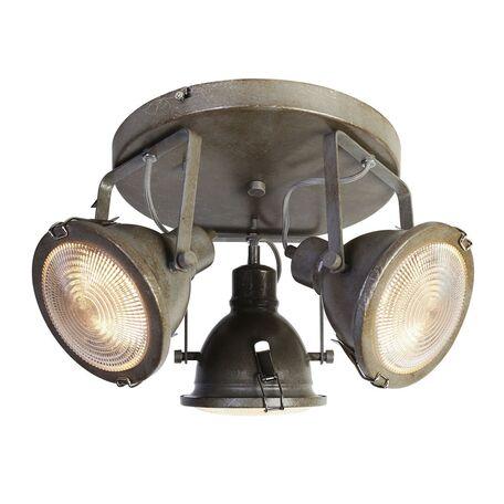 Потолочная люстра с регулировкой направления света Favourite Industria 1899-3C, 3xGU10x50W, серый, прозрачный, металл, стекло
