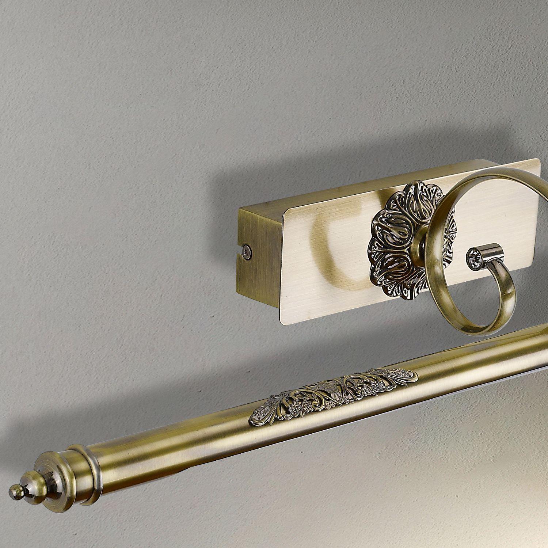 Настенный светодиодный светильник для подсветки картин Favourite Notum 2430-2W, LED 12W 4000K 837lm, бронза, металл - фото 4