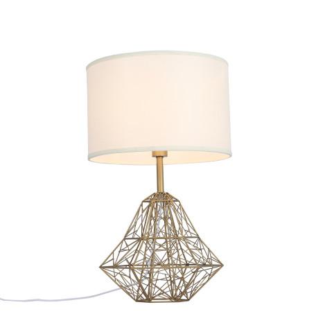 Настольная лампа ST Luce Strano SL264.204.01, 1xE27x60W, матовое золото, белый, металл, текстиль