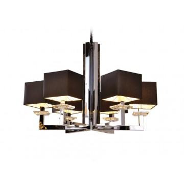 Основание подвесной люстры Newport 3200 3206/C без абажуров (М0044226), 6xE14x60W, прозрачный, хром, металл, стекло