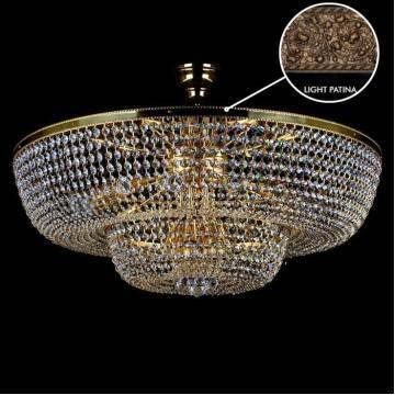 Потолочная люстра Artglass GERTA DIA 1000 LIGHT PATINA SP, 18xE14x60W, кристаллы SPECTRA Swarovski