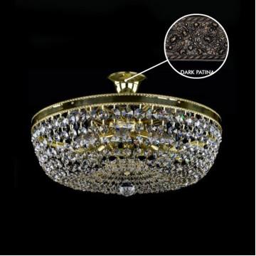Потолочная люстра Artglass GERTA DIA 500 DARK PATINA SP, 8xE14x40W, кристаллы SPECTRA Swarovski