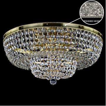 Потолочная люстра Artglass GERTA DIA 600 NICKEL SP, 12xE14x40W, кристаллы SPECTRA Swarovski
